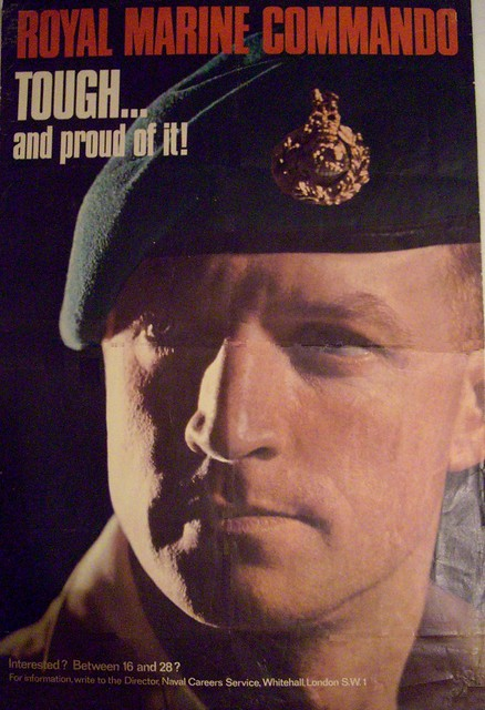 Royal marines recruiting poster 1970 flickr photo sharing - Royal marines recruitment office ...