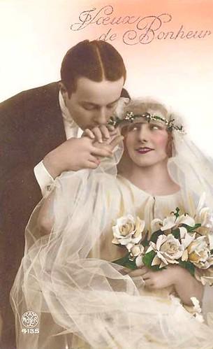 Vintage Wedding Postcard Lovely Couple Chicks57 Flickr