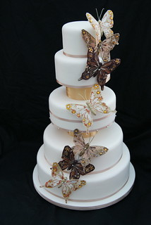 Cascading Butterfly Wedding Cake | by Cakes by Occasion