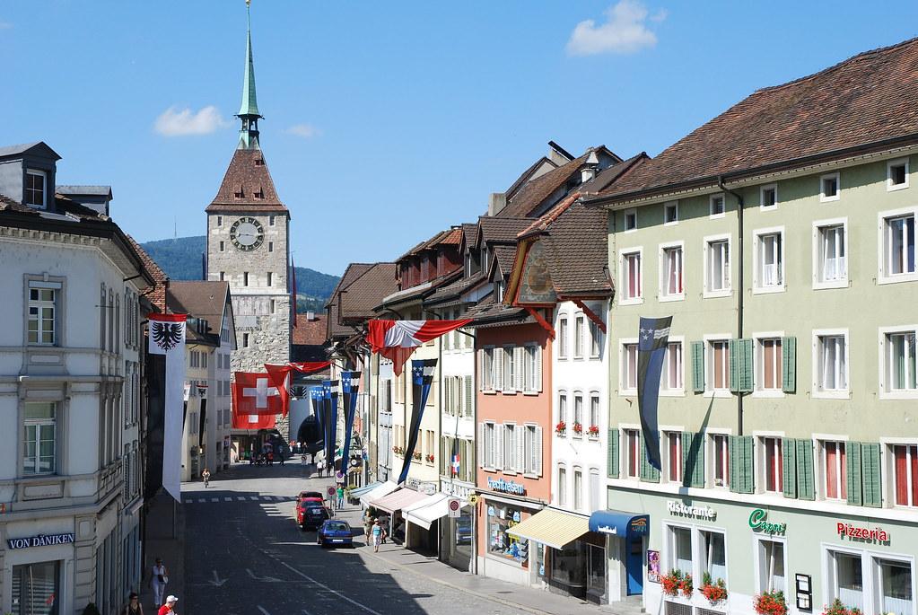 Aarau Switzerland The Old Clock Tower In Aarau