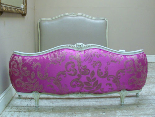 French Upholstered Bed White