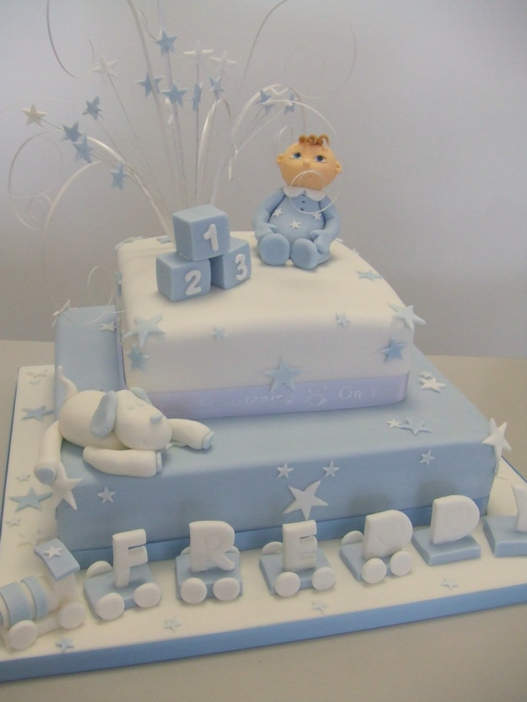 Christening Cake Designs For Baby Boy : CAKE - Baby boy christening by Jules Jules enquiries ...