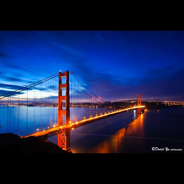 san francisco golden gate bridge twilight blue moment flickr