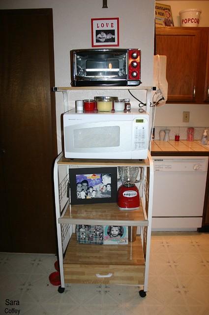 Microwave Cart Kitchen Island