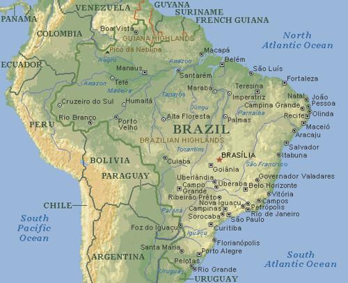 mapa Am rica del Sur Am rica do Sul South America map Flickr