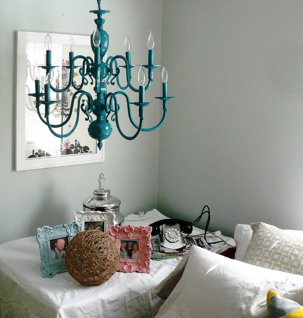 Vintage Turquoise Chandelier Azure Turquoise Cerulean