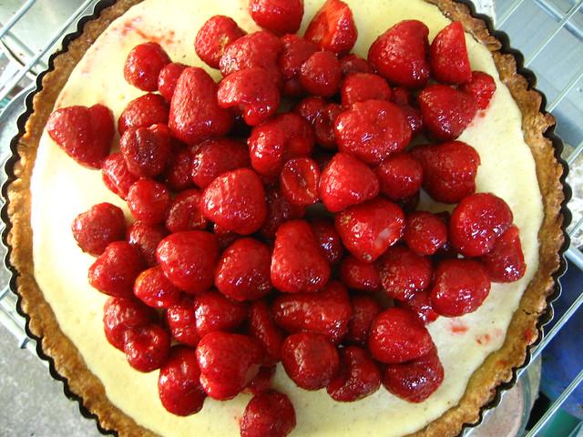 Fresh Strawberry and Ricotta tart   Flickr - Photo Sharing!