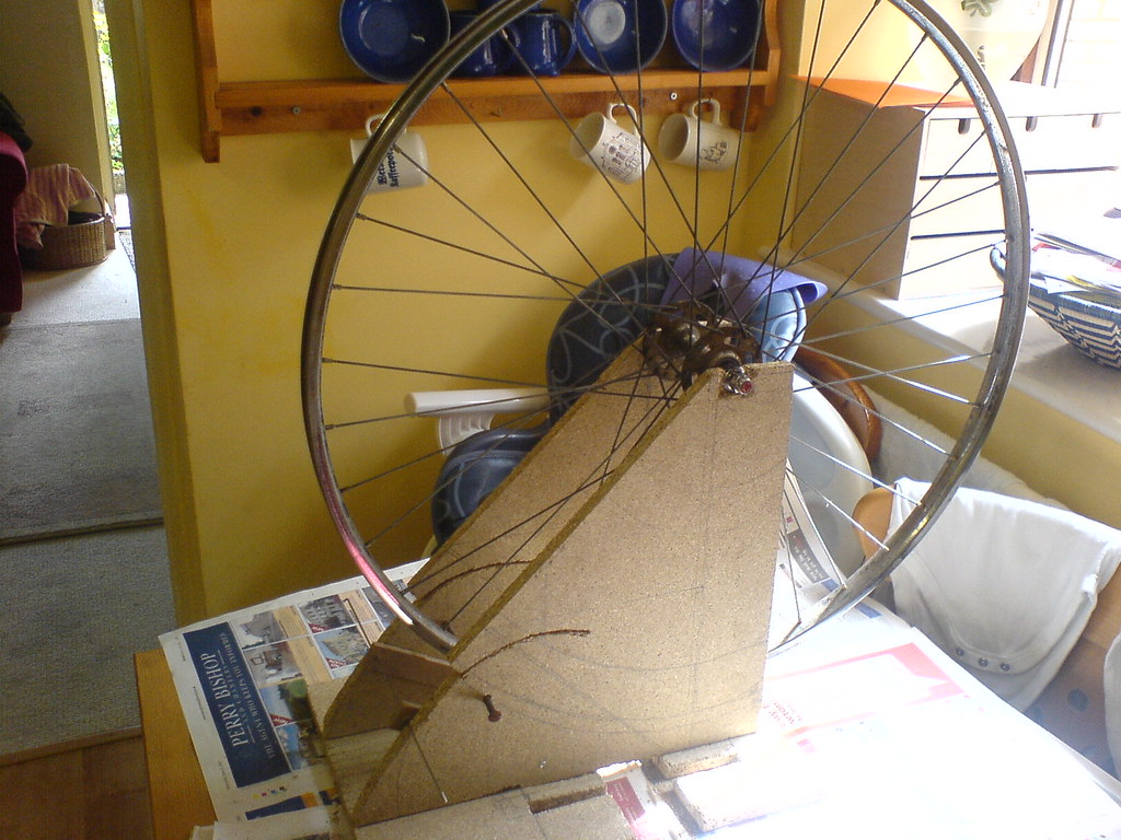 My Homemade Wheel Truing Stand I Think Bicycle Wheels
