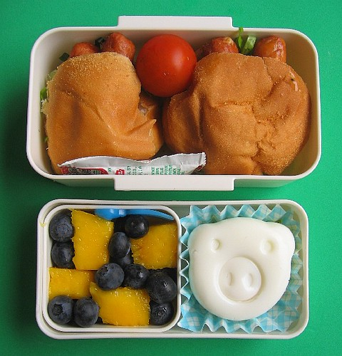 Dinner roll sandwich lunch for preschooler | by Biggie*
