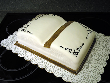 How To Make A Book Shaped Cake