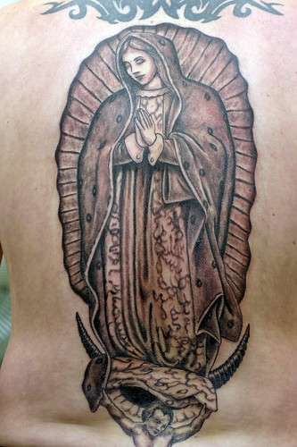 mother mary back peice tattoo flickr. Black Bedroom Furniture Sets. Home Design Ideas