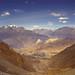 Way down from Thorong La pass