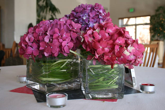 Pink purple hydrangea centerpiece flickr photo sharing