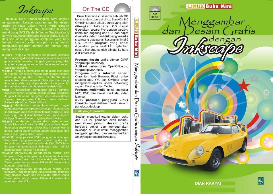 Inkscape Book Cover Tutorial : Cover buku inkscape ini berisi tutorial langkah