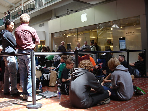 Waiting in line for iPhone | by TheQ!