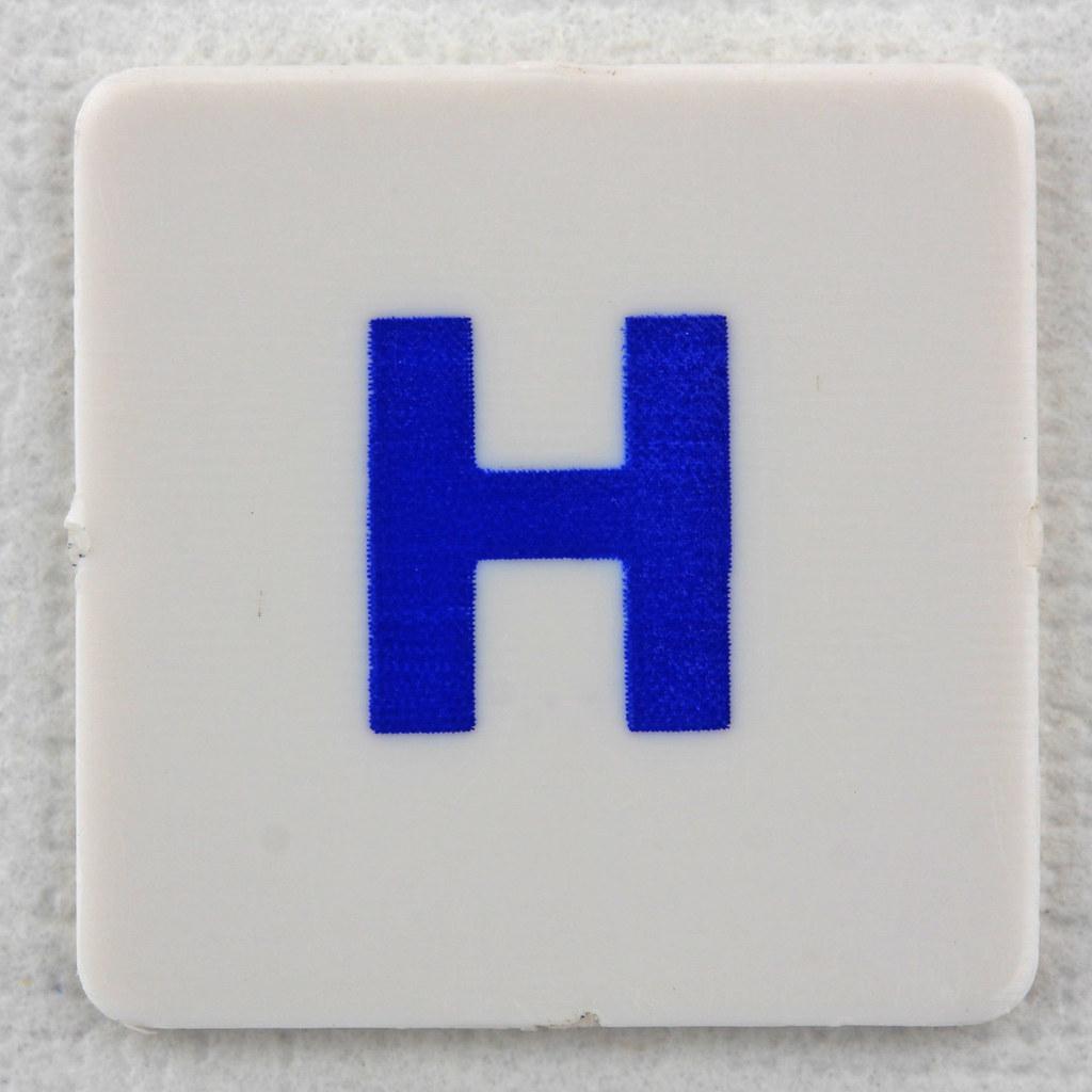 Hangman Tile Blue Letter H Leo Reynolds Flickr