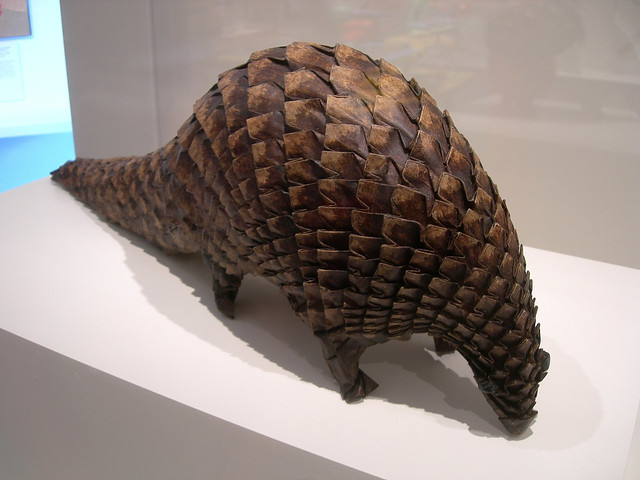"""Origami pangolin, by Eric Joissel 