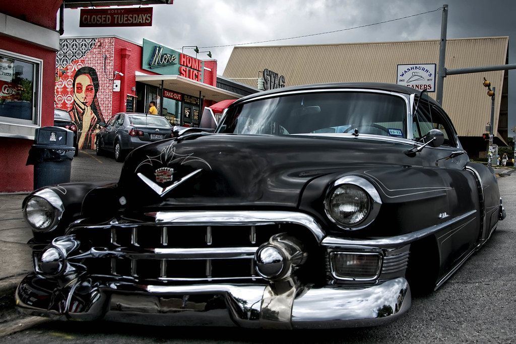 Cool Pictures Of Cars >> Slammed Black Caddy   A cool classic hot rod on South ...