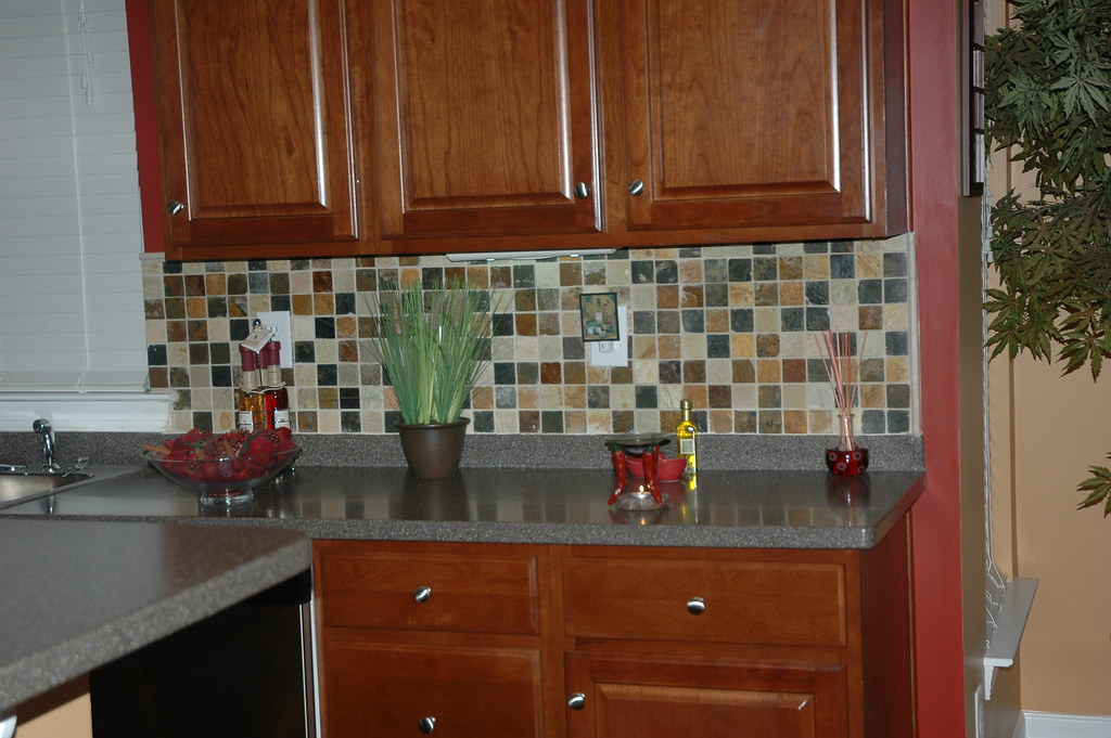 Slate Stone Julie : Julie m slate and quartz mosaic backsplash misty