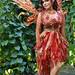 fire fairy renaissance costume