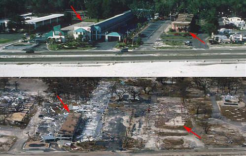 Before and After Gulfport Miss 2 Days After Katrina Land Flickr