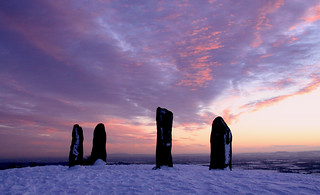 Clent standing stones - Winter sunset | by ahisgett
