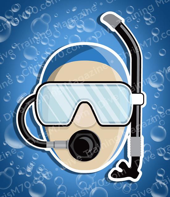 Scuba head illustration dive training magazine - Dive training magazine ...