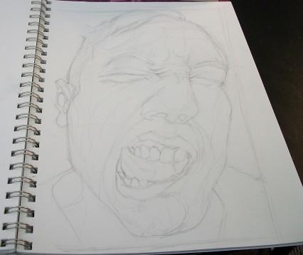 Rough Pencil Sketches Rough Pencil Sketch of Jack