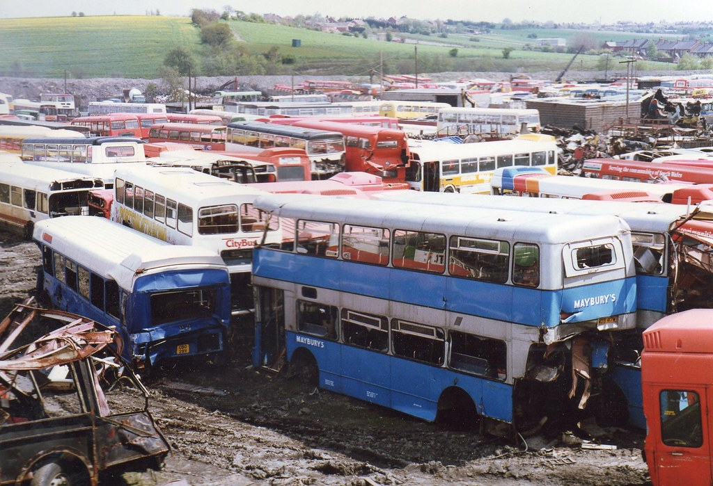 Bus Scrap As Far As The Eye Can See At The Barnsley Bus