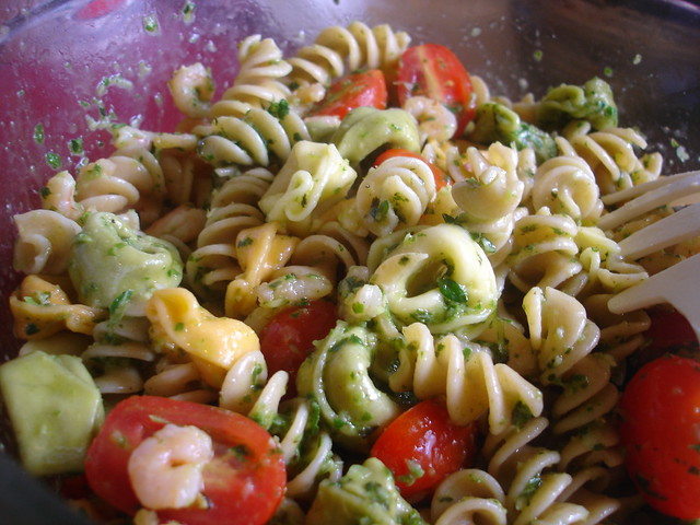 Shrimp Pasta Salad with Tomatoes and Herbs | Flickr - Photo Sharing!
