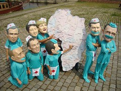 Health Workers for Africa Stunt, Oxfam G8 'Big Heads' - Rostock, Germany, 6 June 2007 | by Oxfam International