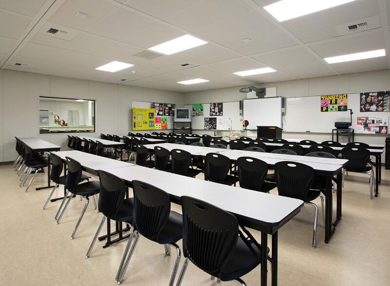 Enviroplex: Shenandoah High School Cosmetology Classroom