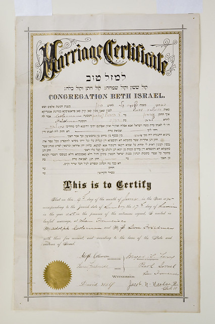 certificate marriage flickr francisco san california magnes