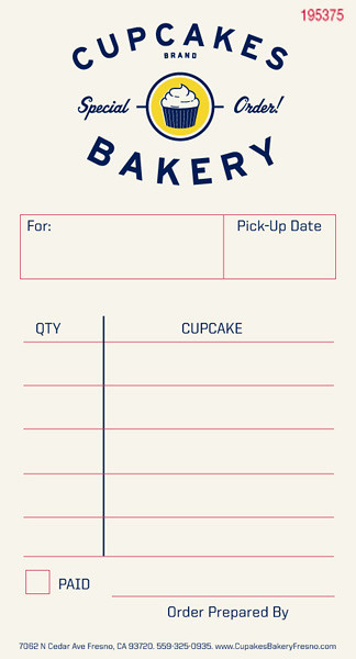 Cupcakes Order Form Always A Good Feeling Design Co