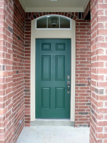 front door in green