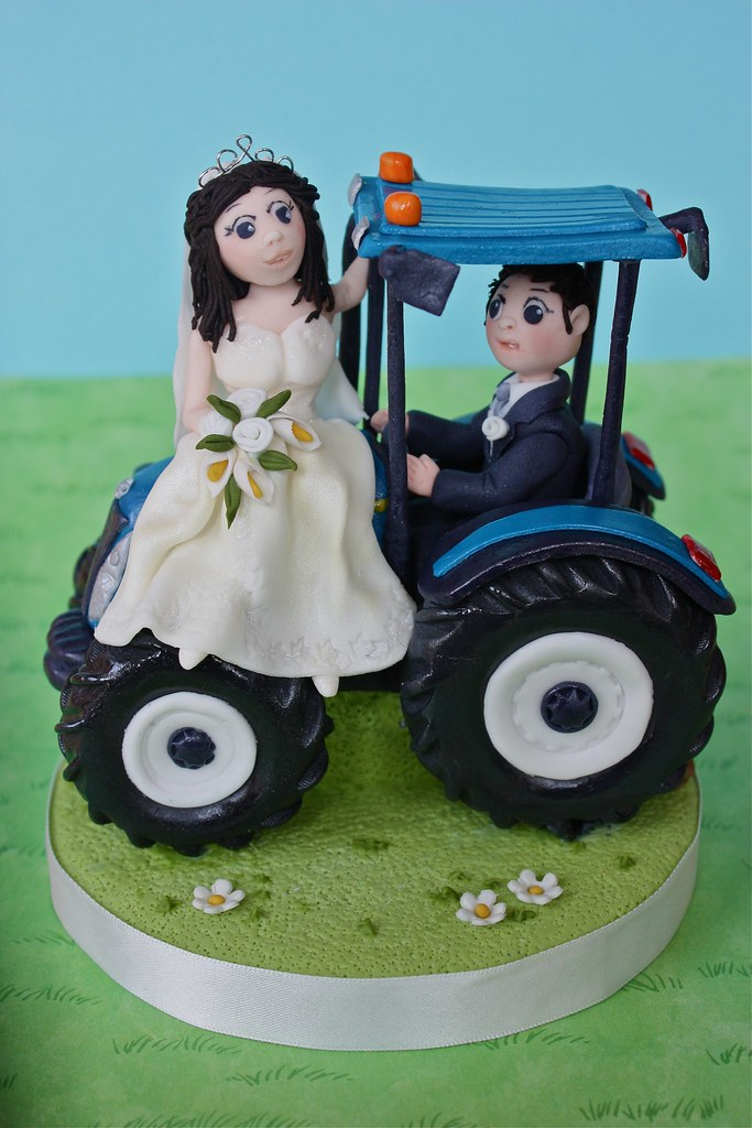 Tractor Wedding Cake Topper I Made This A Little