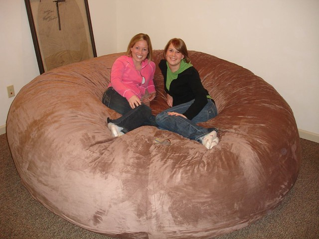 Huge Bean Bag Chair Lovesac Love Sac Comfy Sack Fombag