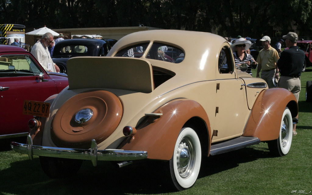 1936 hupmobile 618 g 2 door rumble seat coupe tan rvr flickr. Black Bedroom Furniture Sets. Home Design Ideas