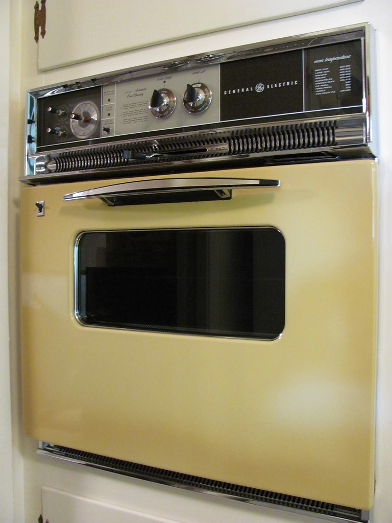My 1970 Vintage General Electric Oven In Glowing Harvest
