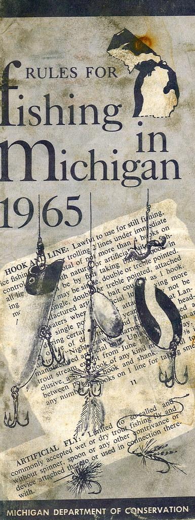 1965 michigan fishing license guide 1965 michigan for Michigan fishing license online