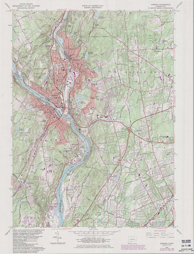 Ansonia Quadrangle 1984 - USGS Topographic Map 1:24,000 | by uconnlibrariesmagic