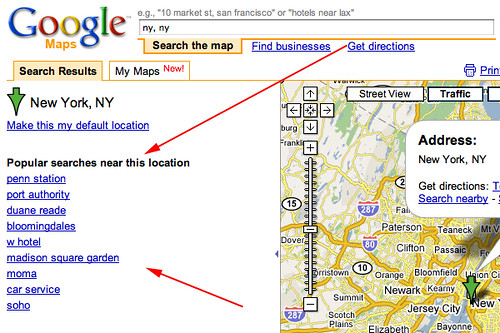 Google Maps Popular Searches | by rustybrick