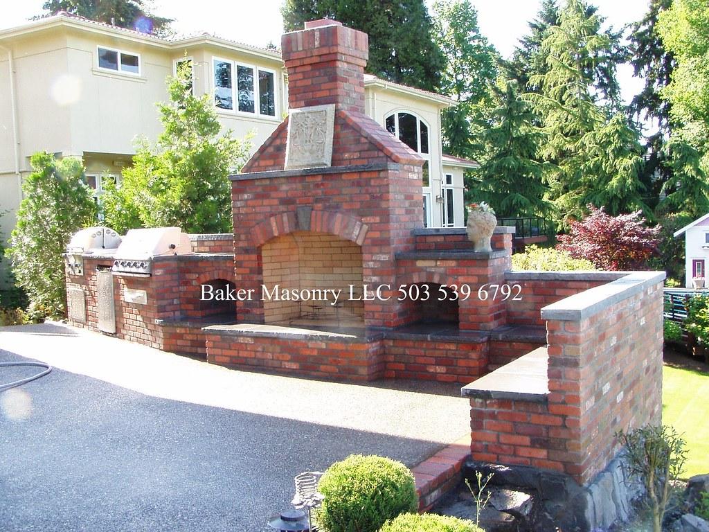 outdoor brick fireplace with bbq baker masonry llc 503 53 u2026 flickr