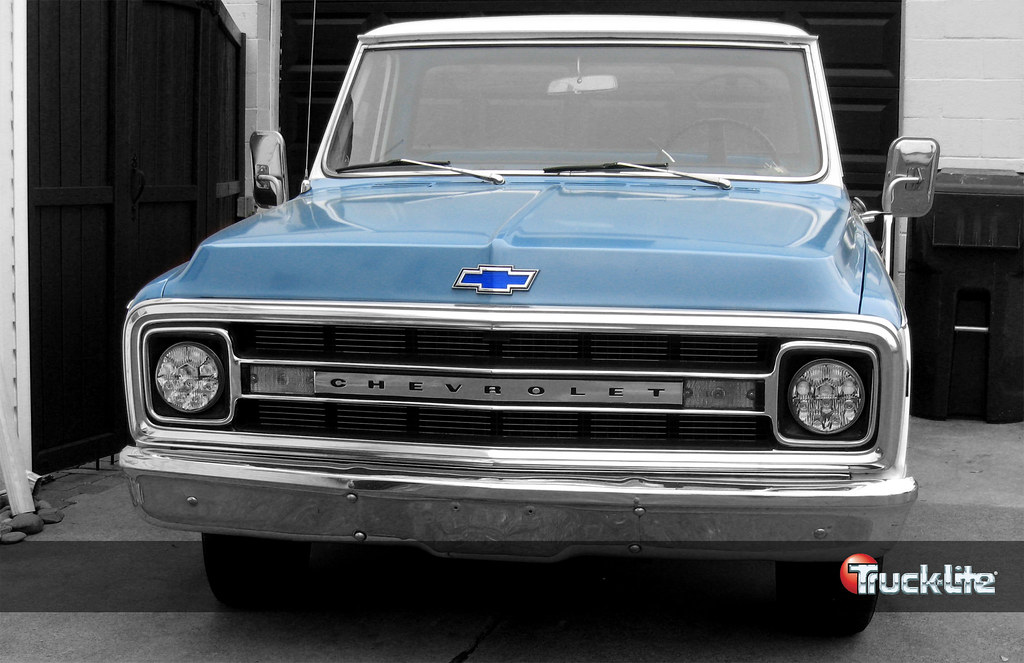 1970 Chevy Truck With Truck Lite Led Headlamps Truck