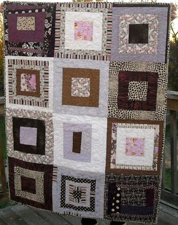 purple/brown charity quilt | by vickivictoria