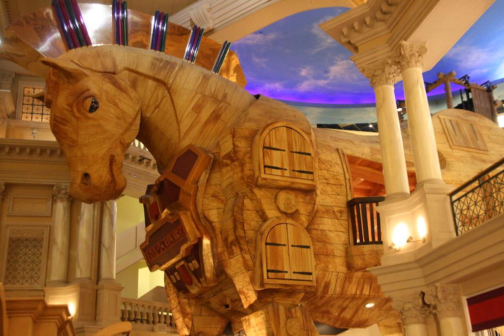Giant wooden horse | Caesars Palace, Las Vegas, NV.