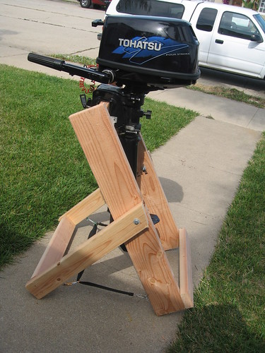 Home Made Outboard Motor Stand Flickr Photo Sharing