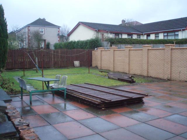 Building Work View Of Rear Garden Towards Nursing Home