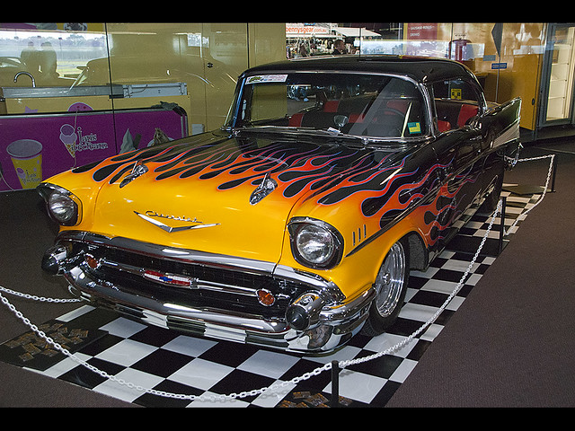 Chevrolet Bel Air >> 100516 Flamed 57 Chev 01 | 1957 Chevrolet Bel Air with flame… | Flickr