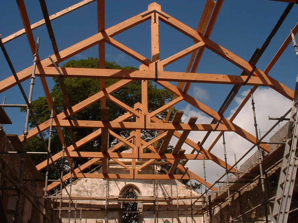 Pitch Pine Raised Head Roof Truss And Purlins Www